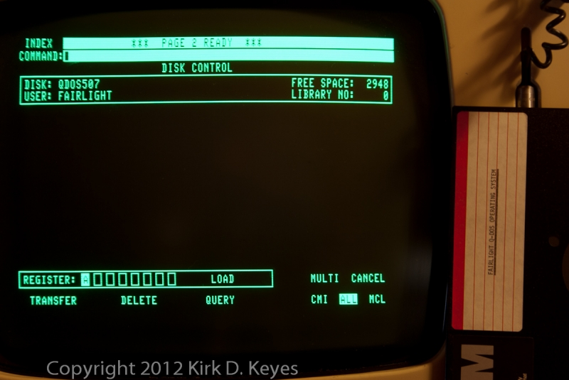 DISK LABEL: FAIRLIGHT Q-DOS OPERATING SYSTEM, DISK: QDOS507, USER: FAIRLIGHT