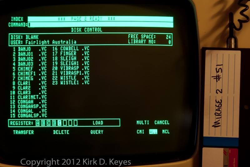 DISK LABEL: Mirage2 #51, DISK: (Blank), USER: Fairlight Australia