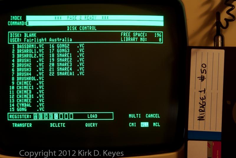 DISK LABEL: Mirage1 #50, DISK: (Blank), USER: Fairlight Australia
