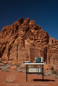 Fairlight IIx CMI at Valley of Fire State Park, Nevada, USA. Copyright 2013 Kirk D. Keyes